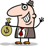 Happy businessman cartoon illustration Stock Photography