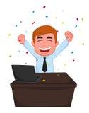 Happy Businessman cartoon Stock Image