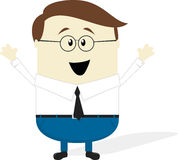 Happy businessman cartoon Royalty Free Stock Photo
