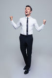 Happy businessman celebrating his success Stock Photo
