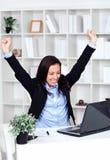Happy businessman , celebrating success Royalty Free Stock Photo