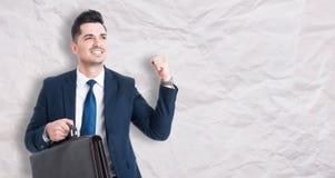 Happy businessman celebrating success Royalty Free Stock Image