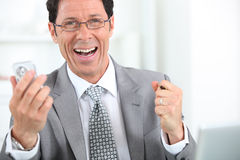 Happy businessman close-up Royalty Free Stock Images