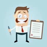 Happy businessman with a contract Royalty Free Stock Photo