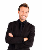 Happy businessman with crossed arms Royalty Free Stock Image