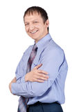 Happy businessman with crossed arms Royalty Free Stock Photography