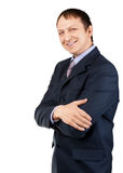 Happy businessman with crossed arms Stock Image