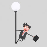 Happy businessman dancing.3D. 