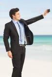 Happy businessman doing selfie Stock Photography