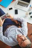Happy businessman Stock Photos
