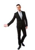 Happy businessman gesturing Royalty Free Stock Photo
