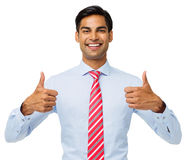 Happy Businessman Gesturing Thumbs Up Stock Image