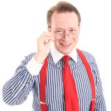 Happy businessman with glasses Royalty Free Stock Images