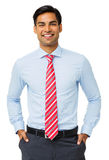 Happy Businessman With Hands In Pockets Stock Images