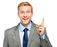 Happy businessman has an idea Royalty Free Stock Image