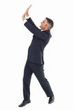 Happy businessman with his arms up Royalty Free Stock Photos