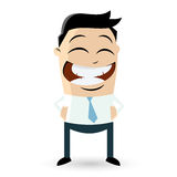 Happy businessman vector illustration