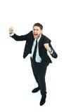 Happy businessman isolated Stock Image