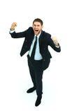 Happy businessman isolated Stock Photos