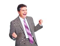 Happy businessman. Royalty Free Stock Photos