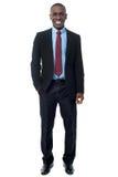 Happy businessman isolated on white Stock Image