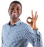 Happy Businessman Making Ok Sign