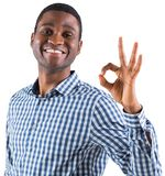 Happy businessman making ok sign Royalty Free Stock Images