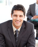 Happy businessman during a meeting Royalty Free Stock Photo