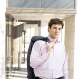 Happy businessman outdoor Royalty Free Stock Image
