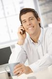 Happy businessman on phone call Royalty Free Stock Photography