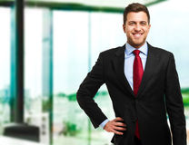 Happy businessman portrait Royalty Free Stock Images