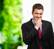 Happy businessman portrait Stock Images