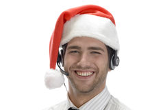 Happy businessman posing with headset Royalty Free Stock Photography