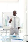 Happy Businessman after presentation. Portrait of a Happy Businessman after giving a  presentation Stock Photos