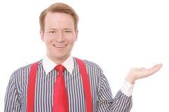 Happy businessman presents Royalty Free Stock Photo