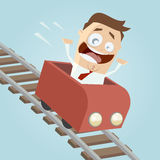 Happy businessman in a roller coaster Royalty Free Stock Photos