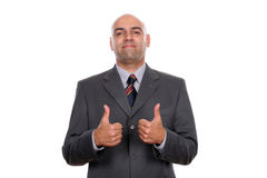 Happy businessman showing thumbs up Stock Image