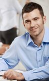 Happy businessman on business meeting Royalty Free Stock Image
