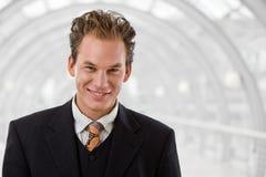 Happy businessman smiling Stock Photo