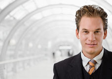 Happy businessman smiling Stock Images