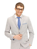 Happy businessman in spectacles Stock Photo
