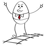 Cartoon happy businessman in success. Happy businessman in success - hand drawn cartoon royalty free illustration