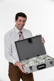Happy businessman. Royalty Free Stock Image