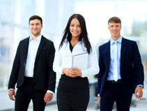 Happy businessman team Stock Image