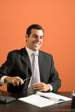 Happy Businessman - Vertical Stock Photography
