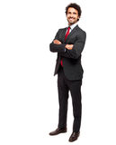 Happy businessman on white background Stock Photography