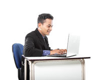Happy of businessman in work Royalty Free Stock Photos