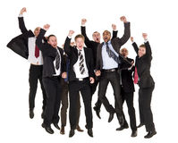 Happy businessmen Stock Images