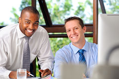 Happy businessmen Royalty Free Stock Image