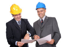 Happy businessmen in a meeting Royalty Free Stock Photos